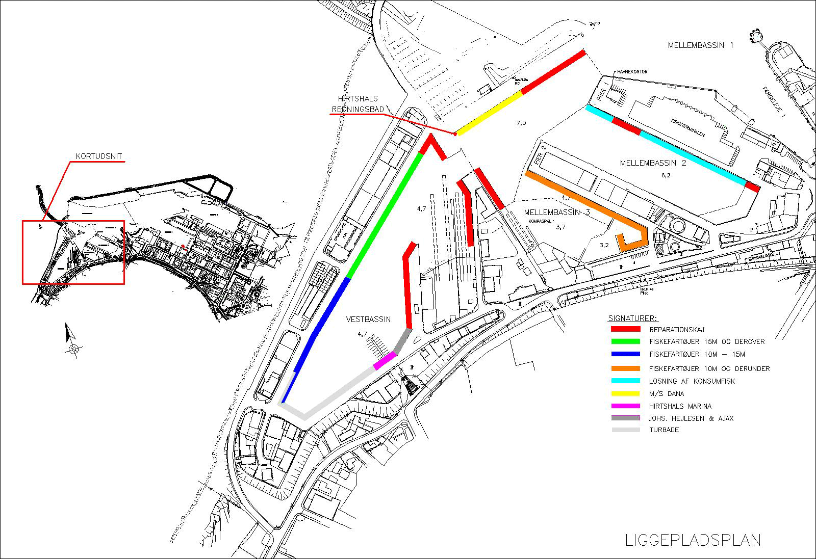 The port's berth plan
