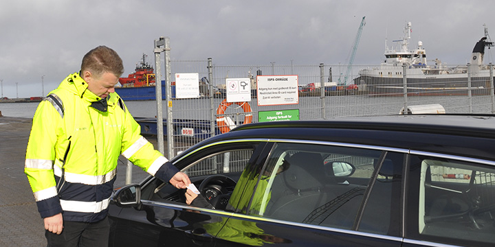ISPS control at the Port of Hirtshals