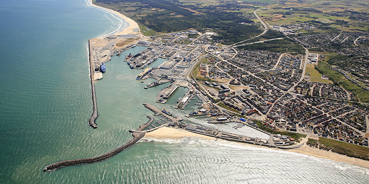 Aerial photo of the Port of Hirtshals