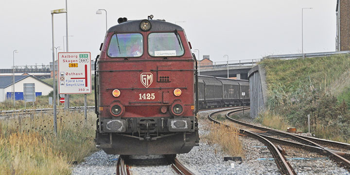 Train at the combi terminal