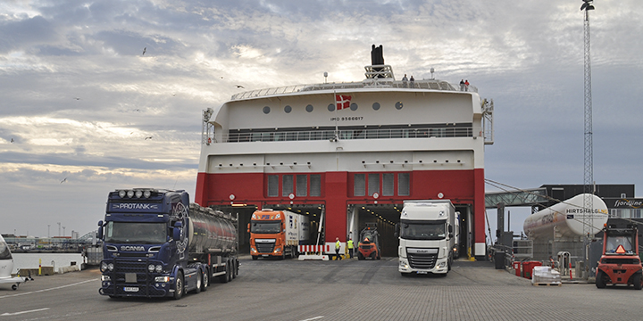 Ro/ro traffic constitutes the majority of the cargo transport at the Port of Hirtshals