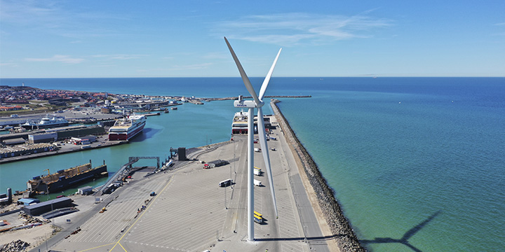 Wind turbine 4 at the Port of Hirtshals